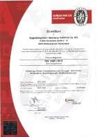 DIN EN ISO 14001:2015 & OHSAS 18001:2007 (certification HSE management system)