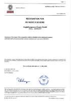 EagleBurgmann Espey Zertifikat BV Mode II