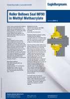 Solution: Roller bellows seal MF90 in methyl methacrylate