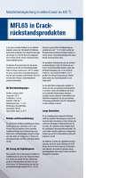 Solution: Metallbalgdichtung MFL65 in Crackrückstandsprodukten