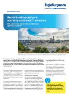 Solution: Record breaking savings in operating costs and CO2 emissions