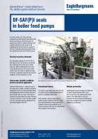 Solution: DiamondFace coated mechanical seals DF-SAF(P)I seals for boiler feed pumps