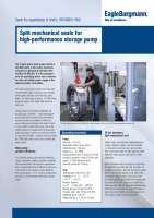 Solution VGH mechanical seals for storage pump
